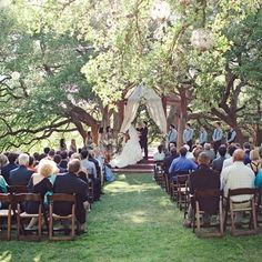 Outdoor Wedding Ceremony (the knot)
