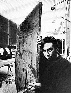 Tàpies, photograph by Arnold Newman, 1964