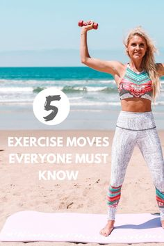 Here are my 5 moves you should know that help with flexibility, toning and general well being! It was my first time going live on TV and I was super excited! Lose Fat Workout, Lower Belly Workout, Lower Ab Workouts, Fun Workouts, Exercise Routines, Body Workouts, Workout Ideas, Fitness Goals For Women, Fitness Challenges