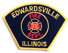 EDWARDSVILLE, ILLINOIS FIRE DEPARTMENT EMBROIDERED PATCH - NEW #BadgesPatches