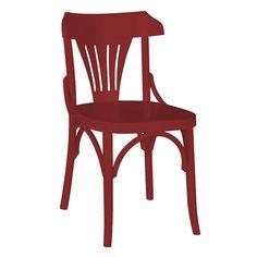 Cadeira Olívia Fabricada em Madeira Maciça Pinus Cor Vinho com Acabamento em Laca Fosca