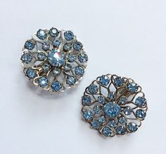 50s Earrings / 60s Earrings / Rhinestone by DuncanLovesTess