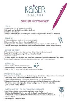 Checklist for the puerperium - Kaiserschlüpfer - A checklist for the . - Checklist for the puerperium – Kaiserschlüpfer – A checklist for the upcoming puerperium. Breastfeeding Techniques, Breastfeeding Tips, Mama Baby, Mom And Baby, Baby Care Tips, Baby Supplies, Baby Development, Midwifery, Kaiser