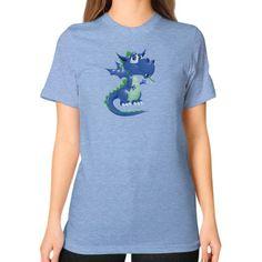 Draco Blue Green Unisex T-Shirt (on woman)