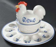 Pfaltzgraff egg platter  Yorktown