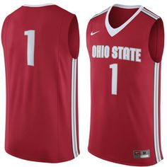 #1 Ohio State Buckeyes Nike Replica Jersey - Scarlet