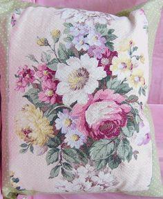 pretty barkcloth pillow