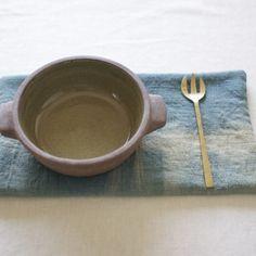 鍋敷き 草木染めのポットマット《藍SHIBORI》 B
