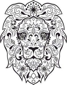 day of the dead dia de los muertos sugar skull coloring pages colouring adult detailed advanced printable kleuren voor volwassenen coloriage pour a
