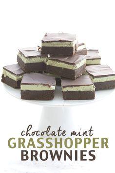 Low Carb Chocolate Mint Grasshopper Brownie Recipe