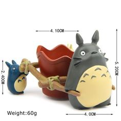 Anime Figure Cartoon Studio Ghibli Anime My Neighbor Totoro Flower Pot Mini Toys Succulent Gardening, Succulents Garden, Garden Pots, Potted Garden, Fairy Pots, Anime Wallet, Garden Figurines, Vegetable Garden Design, Cute Kittens