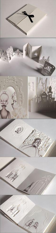 Hiroko Matshushita - a step up on the pop up book! Kirigami, Origami Paper, Diy Paper, Up Book, Book Art, Paper Design, Book Design, Paper Engineering, Scrapbooking