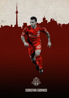 MLS Posters on Behance - Sebastian Giovinco - Toronto FC Toronto Fc, Andrea Pirlo, Sports Bra Outfit, Sports Graphics, Soccer Quotes, Good Day Song, Poster On, Soccer Players, Manchester United