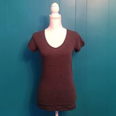 VS Grey Tee One size fits most brand new VS tee shirt. Incredibly soft and stretchy. Fits XS, S or even a M if you like things tight. Price firm, no trades. Victoria's Secret Tops Tees - Short Sleeve