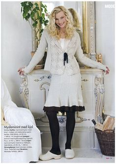 Odd Molly knitted skirt and cardigan in Tara no. 13 2006 Sweden