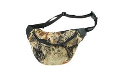 CAT tapestry bumbag FANNYPACK. black ykk zipper. fully lined. woven upholstery fabric
