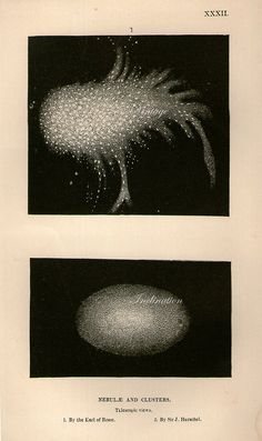 Telescopic views of Nebulae and Clusters by the Earl of Rosse and Sir J. Herschel, 1875