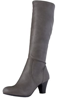 LIUID Women's Maggie Zip-Up High Heel Mid-Calf Boot -- Find out more details by clicking the image : Boots Shoes