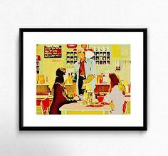 Gilmore Girls Luke's Diner  Wall Art  Gift  Decor