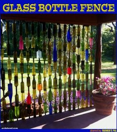 Sweet! Glass bottle fencing