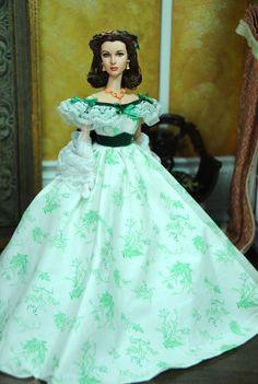 OOAK Vivien Leigh Gone with The Wind Scarlett O'Hara Doll Repaint by Noel Cruz