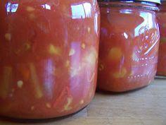 A Handmade Life: Tomato Peach Salsa-yum! I am going to make some peach salsa ASAP!