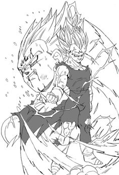 """Trunks, Bulma...I do this for you. And yes...even for you, Kakarot."" Drawn by: Young Jijii. #SonGokuKakarot"