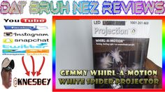 GEMMY WHIRL A MOTION WHITE SPIDER PROJECTION LIGHT