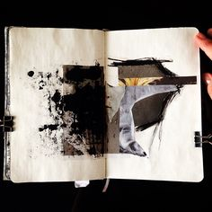 sketchbook/collage/mixed media