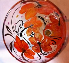 FLOWER GLASSES - Hibiscus Wine Glass: 2 GSet - The Painted Flower (Powered by CubeCart) - Hibiscus Wine Glass
