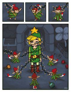 Zelda - Minish Christmas by cecile-appert on deviantART