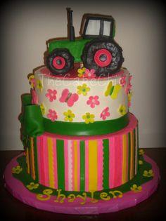 john deere cake girls