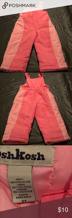ffcc2508c Girl's ski pants Girl's pink ski pants in excellent condition OshKosh  B'gosh Other