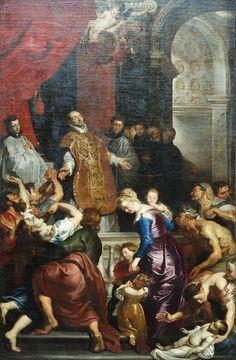 Miracoli di Sant'Ignazio (detaiil)  By Pieter Paul Rubens, 1618-20. Chiesa del Gesù, Genova