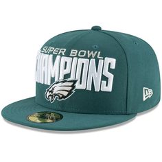 71143fa93ff Philadelphia Eagles New Era Super Bowl LII Champions 59FIFTY Fitted Hat -  Midnight Green