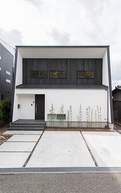 湖の眺望を効果的に取り入れたリビングのある家 Black White Red, Exterior Design, Design Art, Sweet Home, Screenprinting, Architecture, Nice, Dorm, Outdoor Decor