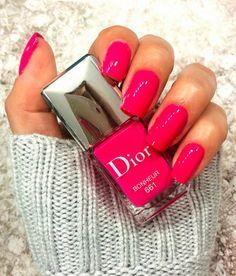 dior 661 // hot pink nails