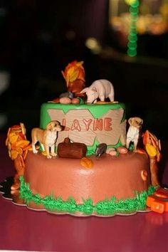Hog hunting cake. Everything was edible.