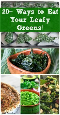 Ways to Eat Your Leafy Greens! Leafy Greens are one of the most nutrient dense vegetables that we should be eating every day!Leafy Greens are one of the most nutrient dense vegetables that we should be eating every day! Raw Food Recipes, Veggie Recipes, Diet Recipes, Vegetarian Recipes, Healthy Recipes, Green Vegetable Recipes, Healthy Snacks, Healthy Eating, Clean Eating