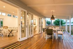 This re-imagining of an existing cottage connects indoor and outdoor spaces to make a generous, light-filled family house. The rear extension houses a large open plan kitchen and living space with a full-width north- facing deck overlooking the garden and pool. The deck acts as the social hub of the house connecting the main house to the media room and...