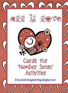 FREE All Is Love Number Cards for Activities