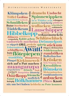 do you know these typical ostwestfalien words? The Words, Private Website, German Words, Lost In Translation, Where The Heart Is, Laugh Out Loud, Quote Of The Day, Did You Know, Affirmations
