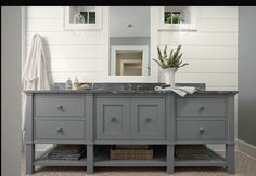 LOVE THIS! Simple, clean lines, and how it looks like a furniture piece rather than a sink is so so cute