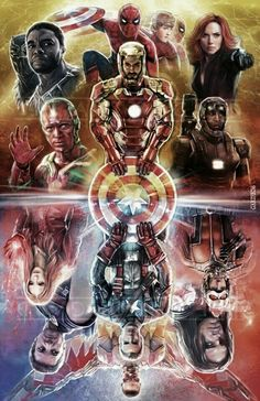 Civil War Captain America / Iron Man Avengers Marvel Comics