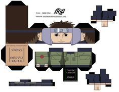 Yamato - Cubeecraft by simplementemoe on DeviantArt Yamato Naruto, Kakashi Sensei, Anime Naruto, Anime Crafts, 3d Paper Crafts, Paper Toys, Origami Naruto, Akatsuki, Bear Totem