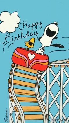 Snoopy and Woodstock Birthday Wishes