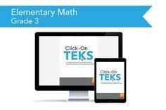 Click-On TEKS Elementary: Grade 3 (downloadable PDF)