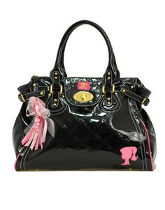 Pauls Boutique Loves Barbie Customised Patent Twister Bag