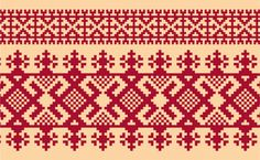Russian Embroidery Ornament Russian Embroidery, Folk Embroidery, Cross Stitch Embroidery, Embroidery Patterns, Folklore, Cross Stitch Designs, Cross Stitch Patterns, Cross Stitch Freebies, Knitting Charts
