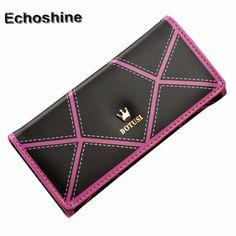 Women OL style Long Crown Leather Clutch Purse Handbag Wallet long leather ladies wallet female handbag purse #women, #men, #hats, #watches, #belts, #fashion, #style